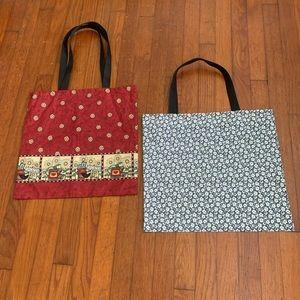 Two Handmade tote bags